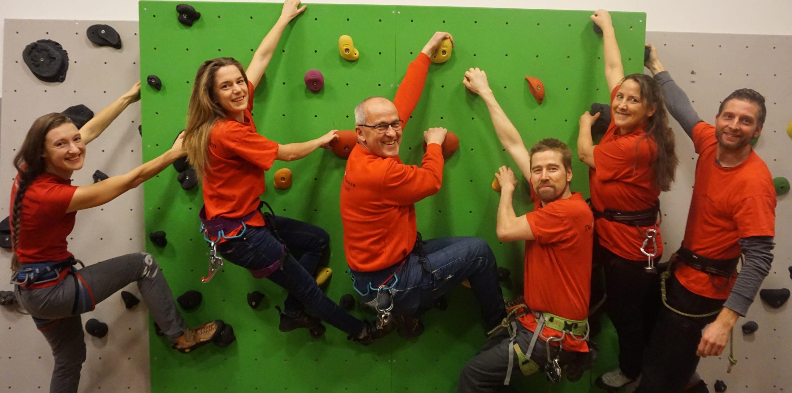 """Das Team von """"Climbing for all e.V."""""""